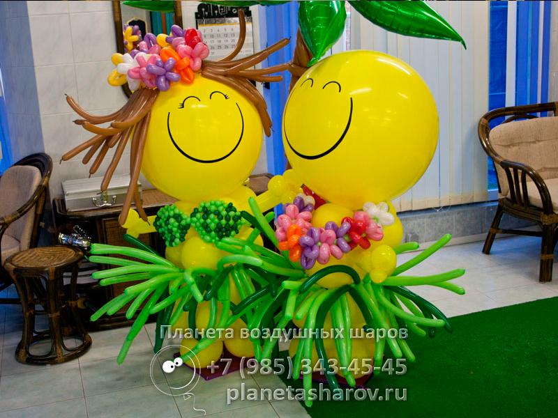 Шары гавайская вечеринка купить гуашь оптом дешево