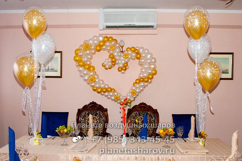 Украшение шарами на свадьбу 168