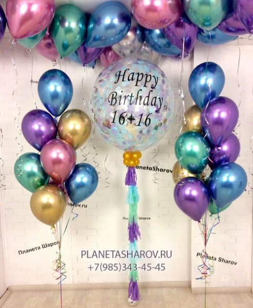 Заказать оформление воздушными шарами метро ВДНХ