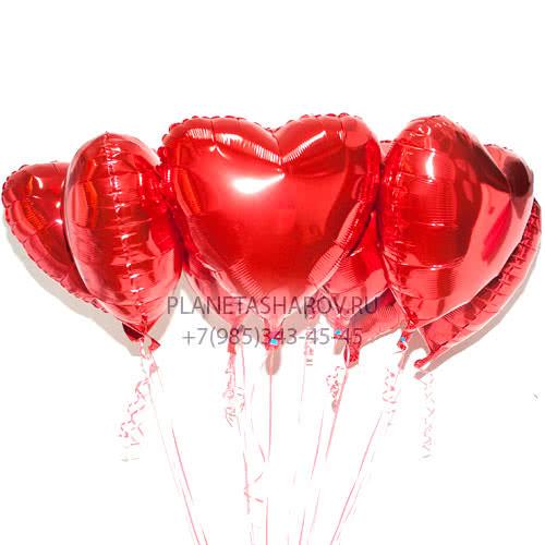 Фонтан из шаров с сердечками купить в интернет магазине